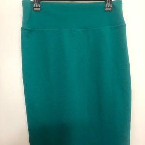 LuLaRoe medium teal Cassie skirt